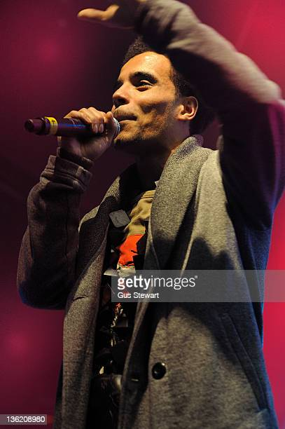 Akala performs on stage during SB TV Christmas Party at KOKO on December 21 2011 in London United Kingdom