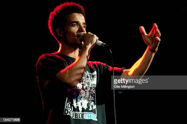 Akala performs on stage during the Left field in Motion tour at O2 Academy Leicester on November 24 2011 in Leicester United Kingdom
