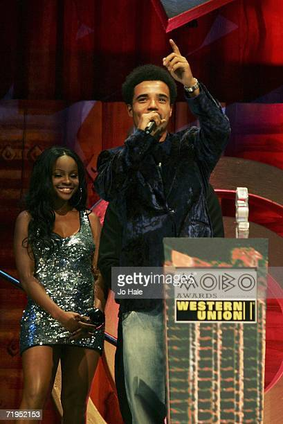 Akala receives the award for Best Hip Hop at the MOBO Awards 2006 at the Royal Albert Hall on September 20 2006 in London England