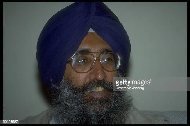 Akali Dal Sikh pol. Party ldr. Simranjit Singh Mann.