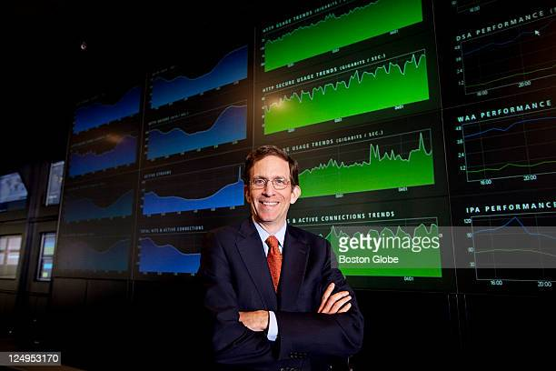 Akamai CEO Paul Sagan is photographed at the NOCC at their offices in Cambridge Mass on Thursday April 15 2010