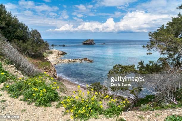 akamas peninsula near polis, headland, west cyprus - アカマス半島 ストックフォトと画像