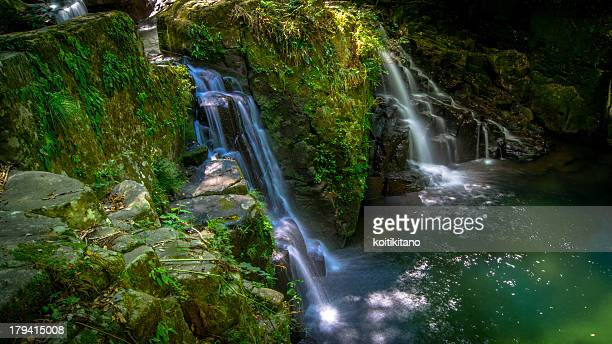 akame 48 waterfalls - mie prefecture stock pictures, royalty-free photos & images