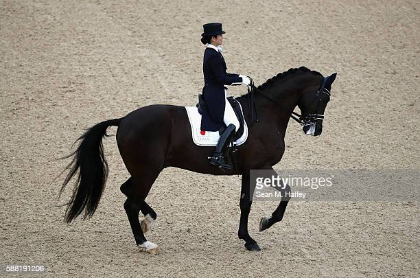 Akane Kuroki of Japan riding Toots competes during the Dressage Individual Grand Prix event on Day 5 of the Rio 2016 Olympic Games at the Olympic...