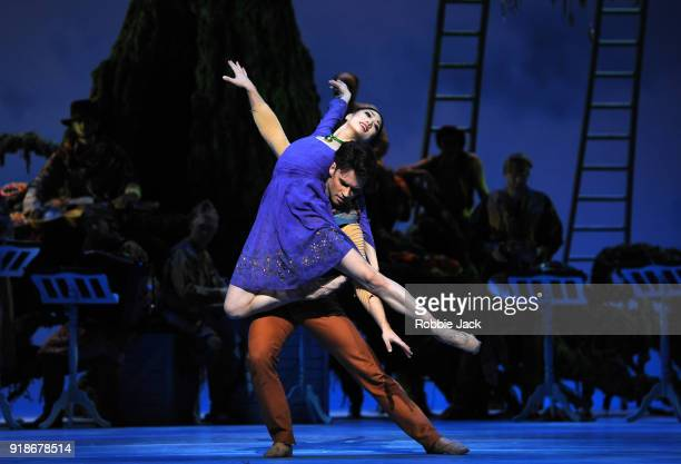 Akane Takada as Perdita and Alexander Campbell as Florizel in the Royal Ballet's production of Christopher Wheeldon's The Winters Tale at The Royal...