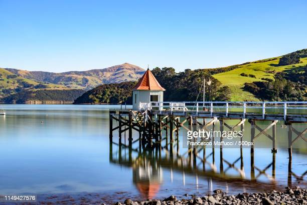 akaroa - christchurch new zealand stock pictures, royalty-free photos & images