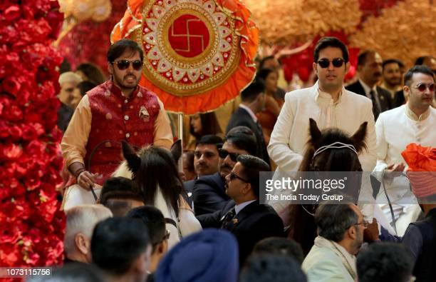 Akash Ambani and Anant Ambani during sister Isha Ambanis wedding ceremony in Mumbai