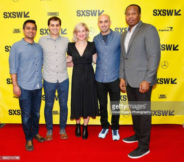 Akash Goyal Matt Negrin Jocelyn Conn Ramin Hedayati and Roy Wood Jr attend Real Fake News Never Stops Convo with The Daily Show during SXSW at Austin...