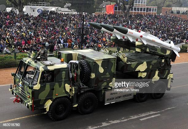 'Akash ' move past during Republic Day full dress rehearsal on January 23 2014 in New Delhi India India's Prime Minister Narendra Modi has invited US...