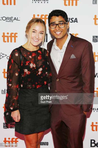 Akash Sherman and guest attend the 'Clara' premiere during 2018 Toronto International Film Festival at Ryerson Theatre on September 10 2018 in...