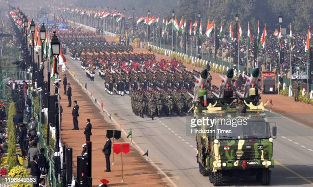 Akash Weapon System during the 71st Republic Day parade at Rajpath, on January 26 in New Delhi, India.