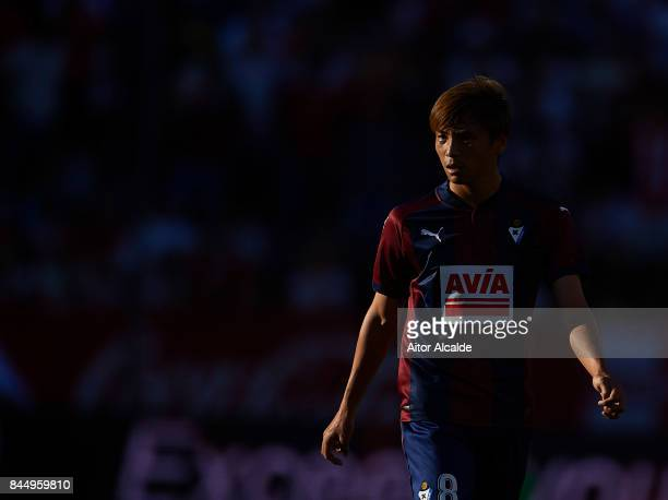 Akashi Inui of SD Eibar looks on during the La Liga match between Sevilla and Eibar at Estadio Ramon Sanchez Pizjuan on September 9 2017 in SEPTEMBER...