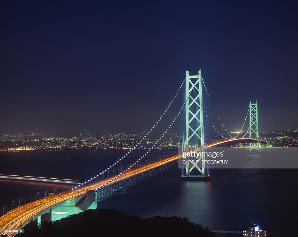 Akashi kaikyo bridge hyogo prefecture japan stock photo getty images akashi kaikyo bridge hyogo prefecture japan publicscrutiny Images