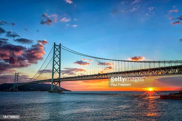 akashi kaikyo bridge - 兵庫県 ストックフォトと画像