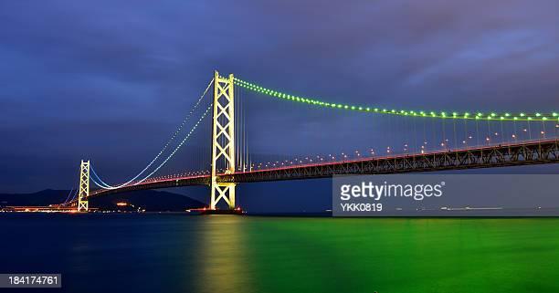 akashi-kaikyo bridge - 兵庫県 ストックフォトと画像