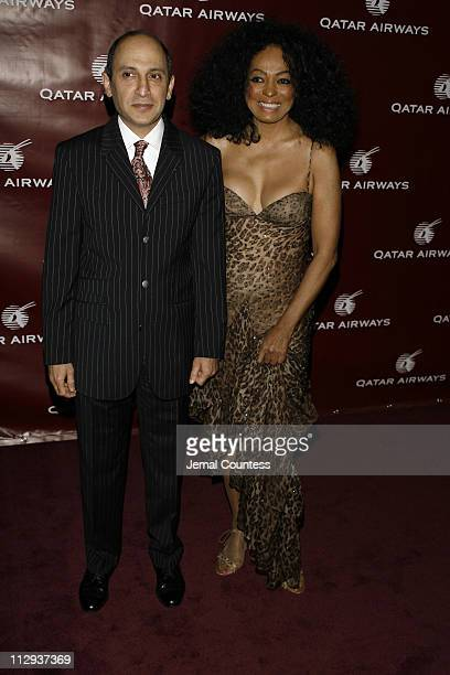 Akbar Al Baker CEO of Qatar Airlines with Diana Ross