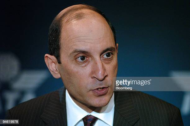 Akbar Al Baker chief executive officer of Air Qatar Airways poses at the opening working session at the IATA meeting in Paris on Monday June 5 2006...
