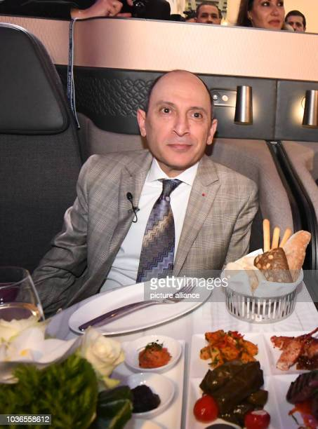 Akbar AlBaker CEO of Qatar Airways Group l sitting in the luxury machines of one of his crafts at the International Tourism Trade Fair in Berlin...