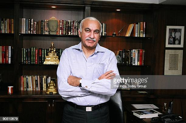 Akbar Editor Asian Age Newspaper at his office New Delhi