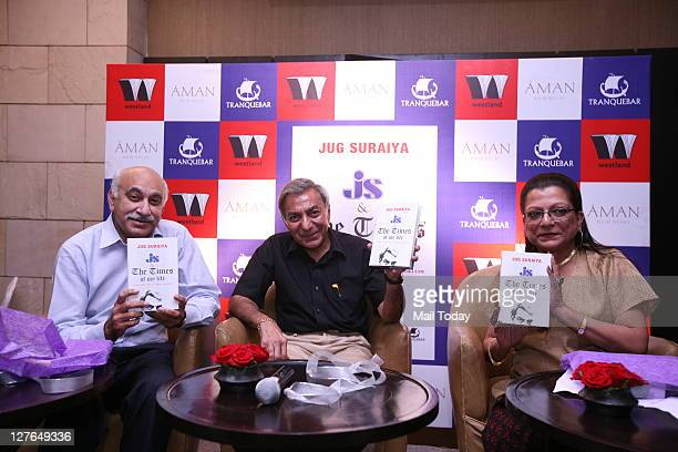 Akbar editorial director of India Today and Headlines Today with veteran Journalist Jug Suraiya at the release of Jug's book JS The Times of My Life...