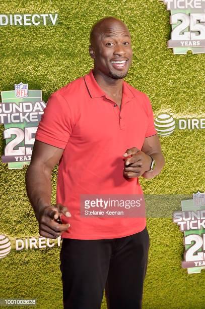 Akbar GbajaBiamila attends DIRECTV CELEBRATES 25th Season of NFL SUNDAY TICKET at Nomad Hotel Los Angeles on July 17 2018 in Los Angeles California
