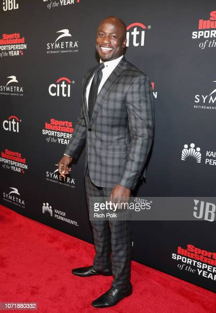 Akbar GbajaBiamila attends Sports Illustrated 2018 Sportsperson of the Year Awards Show on Tuesday December 11 2018 at The Beverly Hilton in Los...