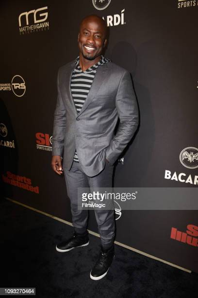 Akbar GbajaBiamila attends Sports Illustrated Saturday Night Lights powered by Matthew Gavin Enterprises and Talent Resources Sports on February 2...