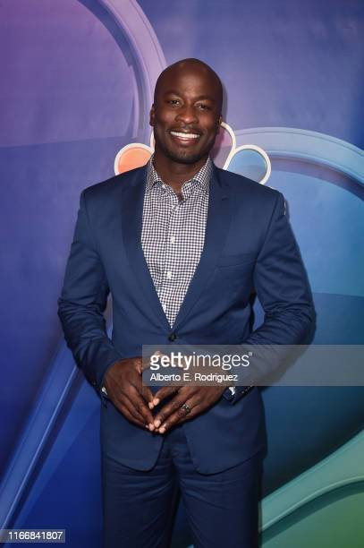 Akbar Gbaja-Biamila attends the 2019 TCA NBC Press Tour Carpet at The Beverly Hilton Hotel on August 08, 2019 in Beverly Hills, California.