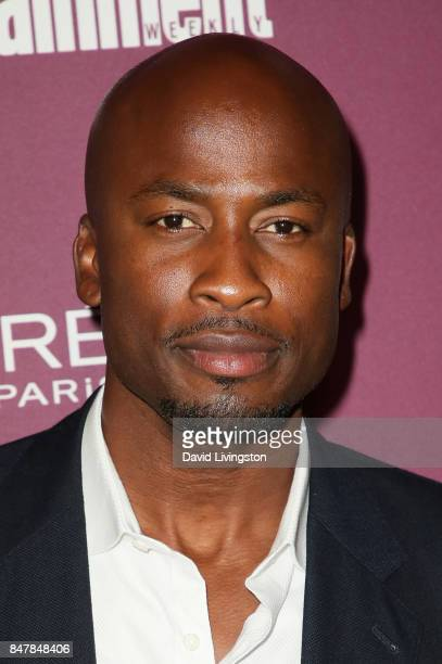 Akbar GbajaBiamila attends the Entertainment Weekly's 2017 PreEmmy Party at the Sunset Tower Hotel on September 15 2017 in West Hollywood California