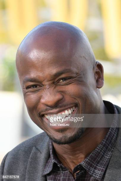 Akbar Gbajabiamila performs at 'Extra' at Universal Studios Hollywood on February 16 2017 in Universal City California