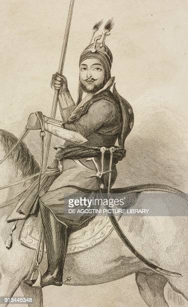 Akbar khan the beloved son of Dost Mohammed Khan emir of Afghanistan engraving by Lemaitre and Gibert from Afghanistan by Xavier Raymond from Tararie...