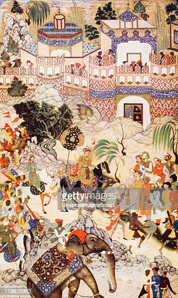 Akbar Khan's entry into Surat by Farrukh Beg From the book The Outline of History by HGWells Volume 2 published 1920