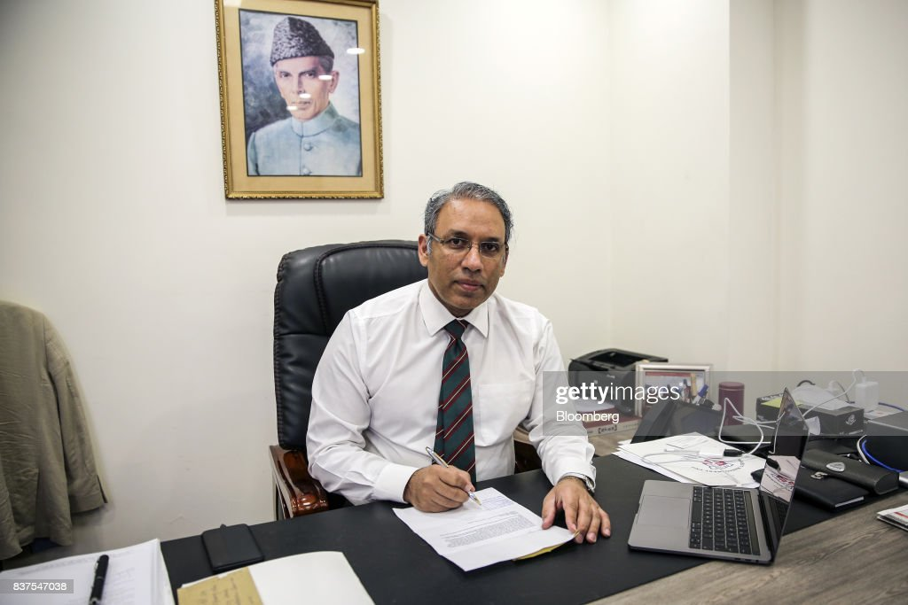 Akbar Nasir Khan, chief operating officer of Punjab Safe Cities Authority (PSCA), sits for a photograph in Lahore, Pakistan, on Tuesday, June 13, 2017. While militants the U.S. identifies as terrorists find refuge in Pakistan, safety within the nation has improved dramatically after it launched a costly, now four-year long military crackdown on domestic insurgent and criminal groups, driving recent economic optimism. Photographer: Asad Zaidi/Bloomberg via Getty Images