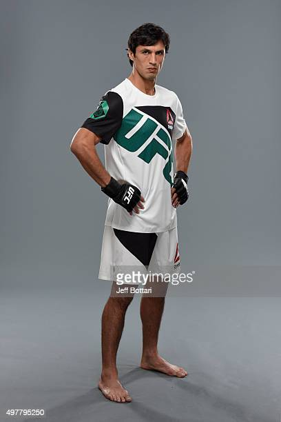 Akbarh Arreola poses for a portrait during a UFC photo session on November 12 2015 in Melbourne Australia