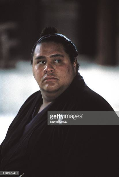 Akebono Consecrated The Best Sumo Of The World In Tokyo Japan On January 27 1992 Akebono waiting for Shinto ceremony at Meiji Shrine