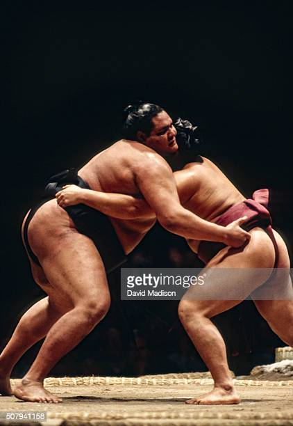 Akebono Taro born in Hawaii as Chad Rowan competes in the 1993 San Jose Basho sumo wrestling tournament held June 45 1993 at the San Jose Event...