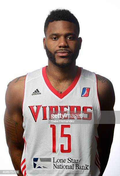 Akeem Ellis of the Rio Grande Valley Vipers poses for a photos during media day on Nov 6 2014 State Farm Arena in Hidalgo Texas NOTE TO USER User...