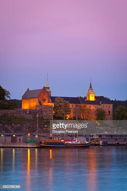 Akershus fortress and harbour, Oslo, Norway, Scandinavia, Europe