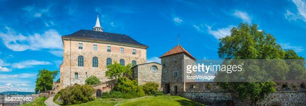 Akershus Slott Fortress panorama iconic castle overlooking Oslo harbour Norway