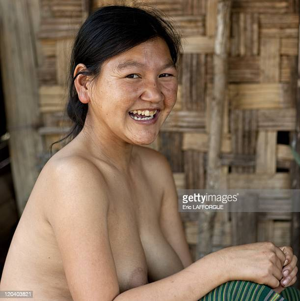 Topless nude tribes woman