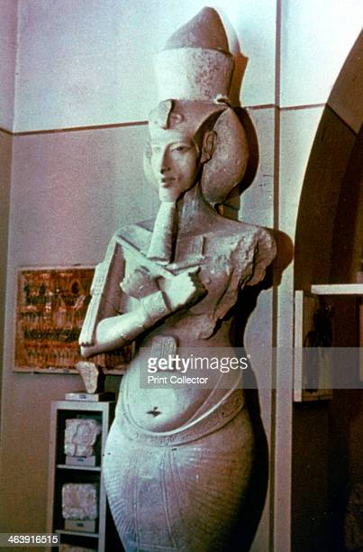 Akhenaten 1375 BC Statue of Akhenaten first known as Amenhotep IV Egyptian Museum Cairo