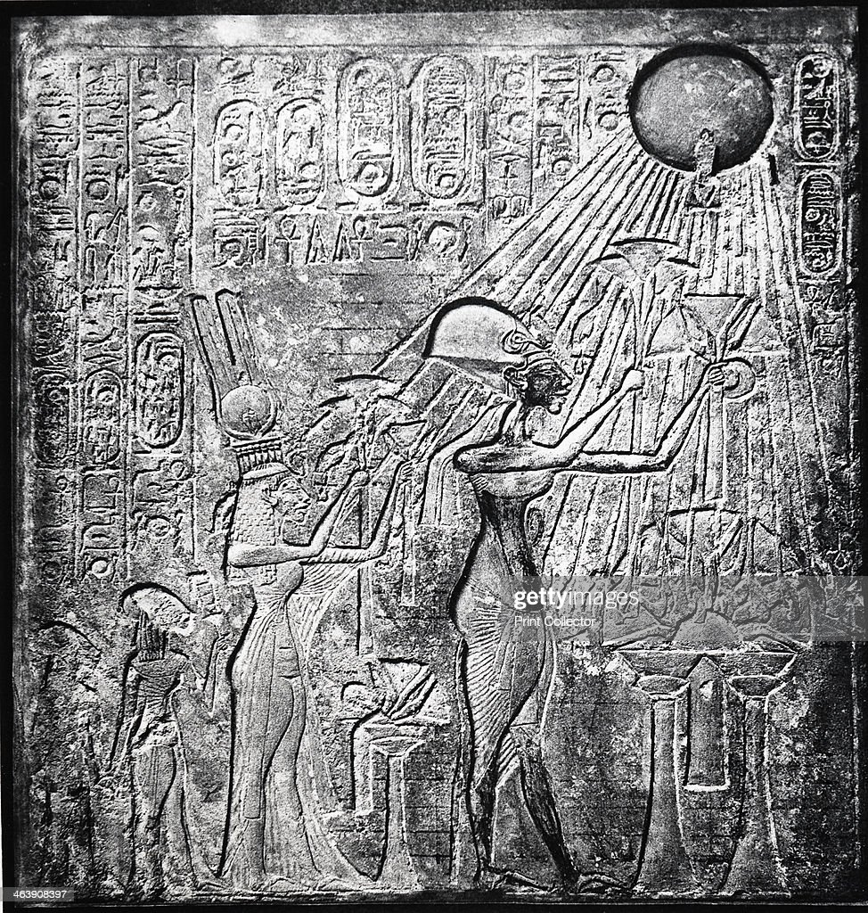 Akhenaten (Amenhotep IV) heretic Egyptian pharaoh. : News Photo