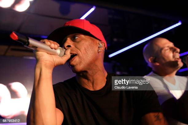 Akhenato and Shurik'n of IAM perform at Villa Schweppes Cannes during the 70th annual Cannes Film Festival at Villa Schweppes on May 24 2017 in...