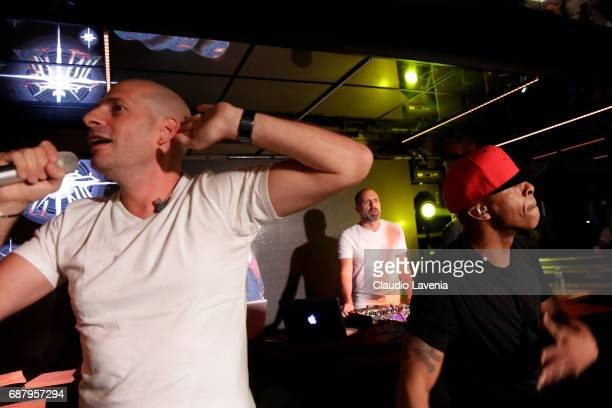 Akhenato Khéops and Shurik'n of IAM perform at Villa Schweppes Cannes during the 70th annual Cannes Film Festival at Villa Schweppes on May 24 2017...