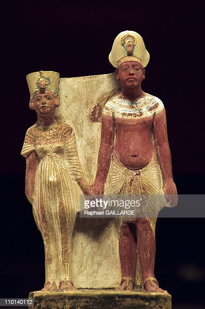 Akhenaton and Nefertiti at Louvre Museum in Paris France on December 17 1997