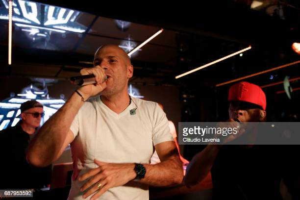 Akhenaton and Shurik'n of IAM perform at Villa Schweppes Cannes during the 70th annual Cannes Film Festival at Villa Schweppes on May 24 2017 in...