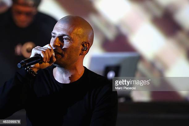 Akhenaton from IAM performs during the 30th 'Victoires de la Musique' French Music Awards Ceremony at le Zenith on February 13 2015 in Paris France