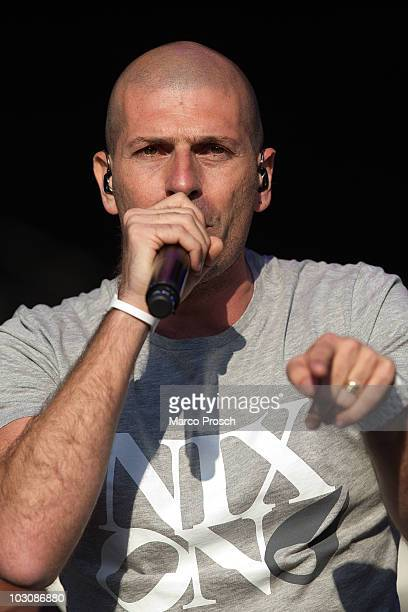 Akhenaton of French rap band IAM performs live at the Splash festival in Ferropolis on July 24 2010 in Graefenhainichen Germany