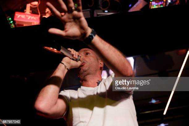 Akhenaton of IAM perform at Villa Schweppes Cannes during the 70th annual Cannes Film Festival at Villa Schweppes on May 24 2017 in Cannes France