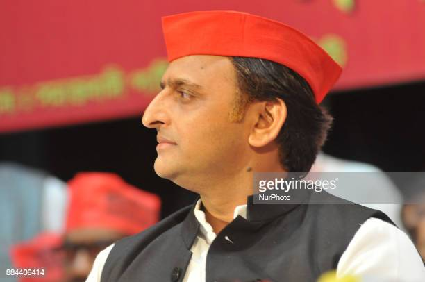 Akhilesh Yadav National president of of the Samajwadi Party at the State Conferences of Samajwadi Party on December 022017 in KolkataIndia